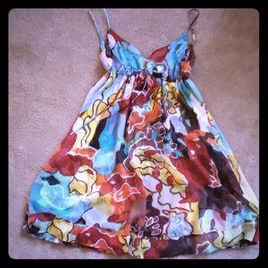 Diane von Furstenberg silk dress.